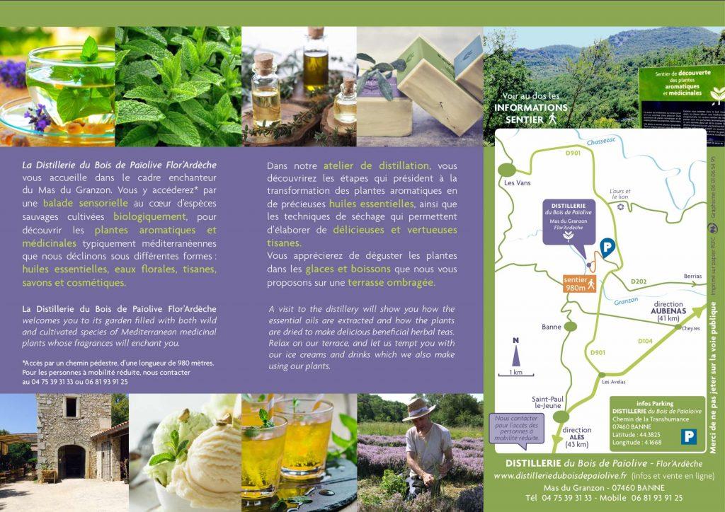 Brochure Distillerie 2019 verso