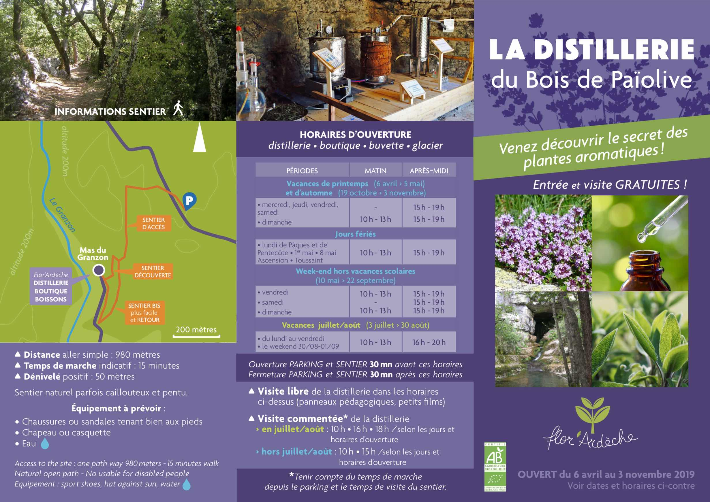 Brochure La Distillerie 2019 recto