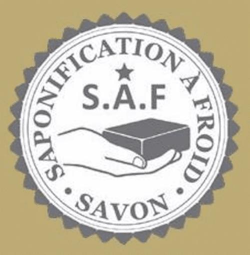 Logo Saponification à froid marron