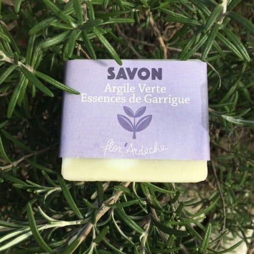Savon Argile Verte Essences de Garrigue Flor'Ardèche 100g