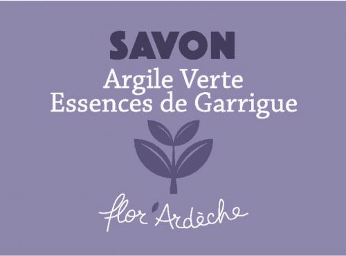 Savon Argile Verte Essences de Garrigue Flor'Ardèche